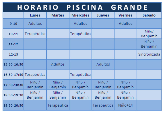 acuasport horarios piscina grande gimnasio torrent