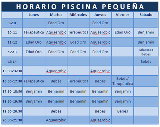 Horario piscina peque a torrent acuasport for Horario gimnasio