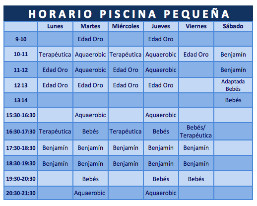 horario piscina torrent